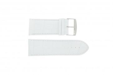 Pasek do zegarka Uniwersalny 305R.09 Skórzany Biały 32mm