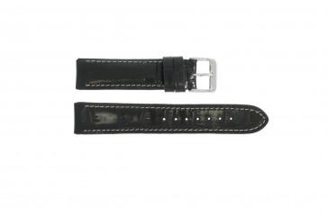 Prawdziwy Skóra Pasek Do Zegarka Krokodyla Czarny Wp-61324.18mm