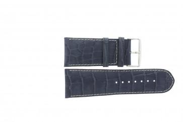 Prawdziwy Skóra Pasek Do Zegarka Krokodyla Ciemny Niebieski Wp-61324.36mm