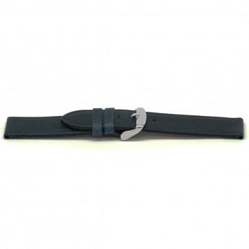 Pasek do zegarka Uniwersalny E629 Skórzany Niebieski 16mm
