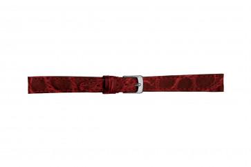 Morellato horlogeband Classico Cucito D2213052082DO08 / PMD082CLSCCU08 Krokodillenleer Rood 8mm + standaard stiksel