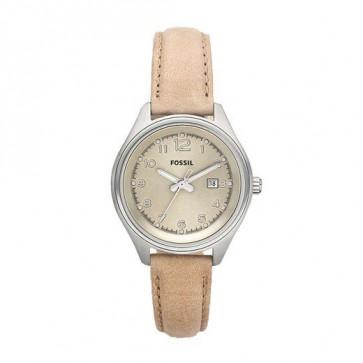 Pasek do zegarka Fossil AM4377 Skórzany Beżowy 22mm