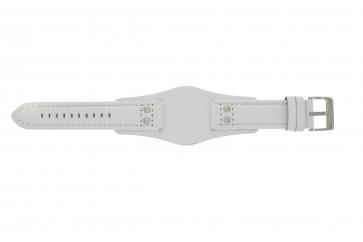 Fossil Pasek Do Zegarka Ch2592 Skóra Biały 22mm