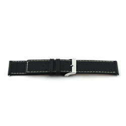 Prawdziwy Skóra Pasek Do Zegarka Czarny 34mm Ex-J43