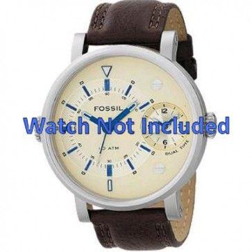 Pasek do zegarka Fossil FS4338 Skórzany Brązowy 24mm