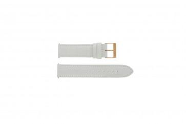 Pasek do zegarka Guess W17516L1 Skórzany Biały 20mm