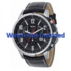 Pasek do zegarka DKNY NY1325 Skórzany Czarny 22mm