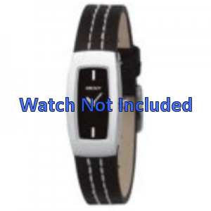 Pasek do zegarka DKNY NY3296 Skórzany Czarny 15mm