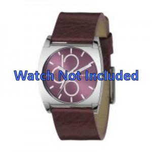 Pasek do zegarka DKNY NY3426 Skórzany Bordeaux 24mm