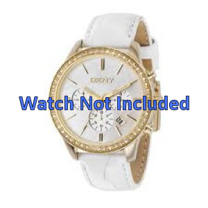 Pasek do zegarka DKNY NY4844 Skórzany Biały 20mm