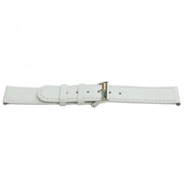 Prawdziwy Skóra Pasek Biały 22mm