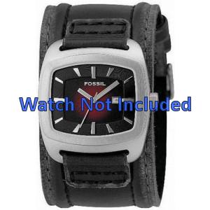 Pasek do zegarka Fossil JR9498 Skórzany Czarny 22mm