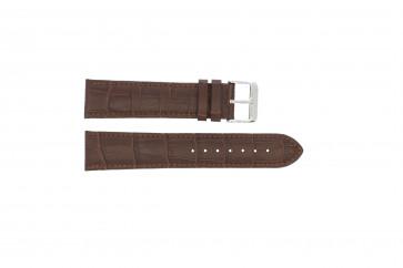 Horlogeband 305.02.12 XL  Leder Bruin 12mm + bruin stiksel