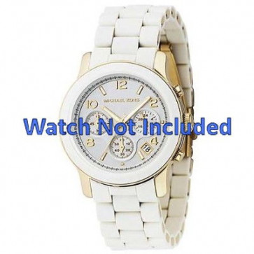 Pasek do zegarka Michael Kors MK5145 Stal Biały 20mm