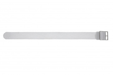 Pasek do zegarka Uniwersalny PRLN.18.W Nylon/perlon Biały 18mm