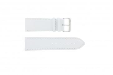 Pasek do zegarka Uniwersalny 306.09 Skórzany Biały 26mm