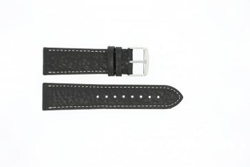 Pasek do zegarka Uniwersalny 307.01 XL Skórzany Czarny 24mm