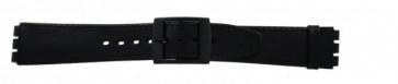 Pasek do zegarka Swatch SC15.01 Skórzany Czarny 16mm
