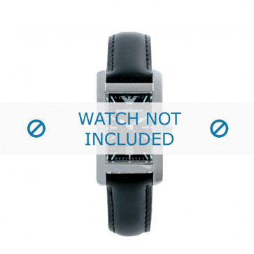 Pasek do zegarka Armani AR0122 Skórzany Czarny 14mm