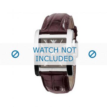 Pasek do zegarka Armani AR0185 Skórzany Brązowy 28mm