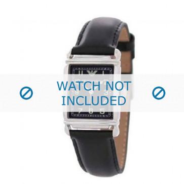 Pasek do zegarka Armani AR0207 / AR0101 / AR0121 / AR5601 / AR0604 Skórzany Czarny 18mm
