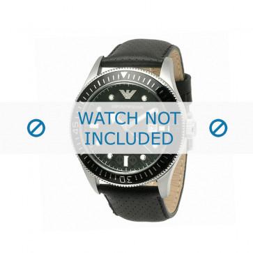 Pasek do zegarka Armani AR0555 Skórzany Czarny 26mm