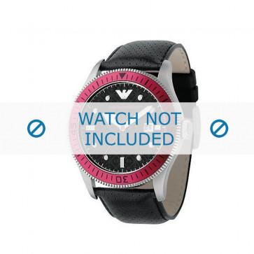 Pasek do zegarka Armani AR0567 Skórzany Czarny 26mm