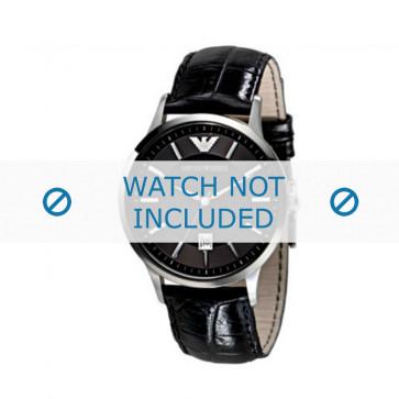 Pasek do zegarka Armani AR2411 Skórzany Czarny 22mm