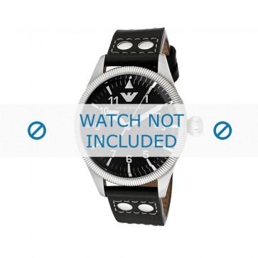 Pasek do zegarka Armani AR5834 Skórzany Czarny 23mm
