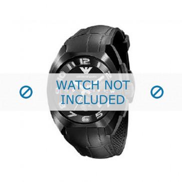 Pasek do zegarka Armani AR5846 Gumowy Czarny 22mm