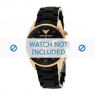 Pasek do zegarka Armani AR5905 Gumowy Czarny 22mm