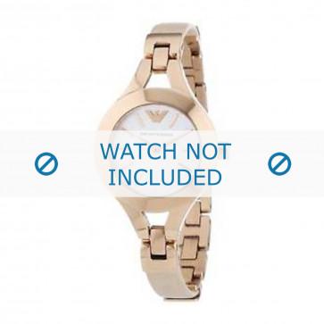 Pasek do zegarka Armani AR7354 Skórzany Kremowy / beżowy / Ivory
