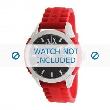Armani horlogeband AX1227 Rubber Rood 22mm