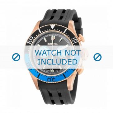 Pasek do zegarka Breil BW0406 Gumowy Czarny 22mm