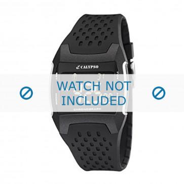 Pasek do zegarka Calypso K5563/1 Gumowy Czarny 26mm
