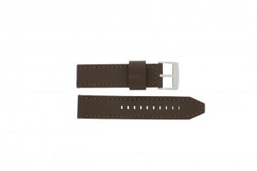 Pasek do zegarka Fossil CH2835 / CH2892 Skórzany Brązowy 22mm