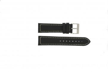 Pasek do zegarka Davis BB1020 Skórzany Czarny 22mm