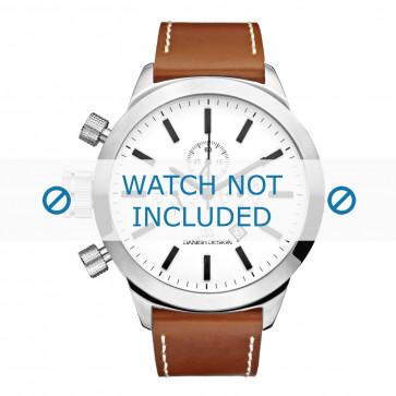 Danish Design horlogeband IQ12Q1040 Leder Cognac 23mm + wit stiksel