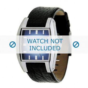 Pasek do zegarka Diesel DZ1032 Skórzany Czarny 17mm
