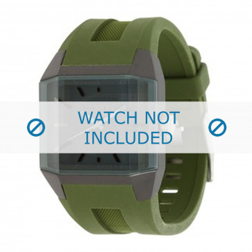 Diesel horlogeband DZ1389 Silicoon Groen 20mm