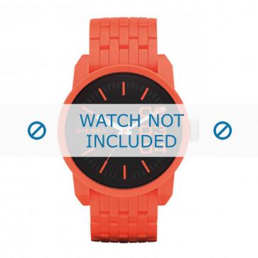 Diesel horlogeband DZ1521 Kunststof / Plastic Oranje 28mm