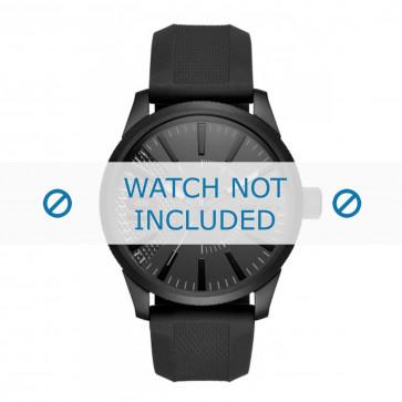 Diesel horlogeband DZ1807 Rubber Zwart 24mm