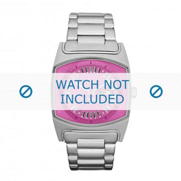 Diesel horlogeband DZ5280 Staal Zilver 25mm