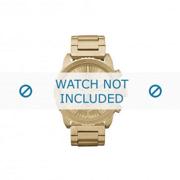Diesel horlogeband DZ5302 Staal Goud 22mm