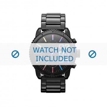 Diesel horlogeband DZ5340 Roestvrij staal (RVS) Zwart 22mm