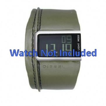 Pasek do zegarka Diesel DZ7053 Skórzany Zielony 28mm