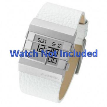 Pasek do zegarka Diesel DZ7087 Skórzany Biały 36mm
