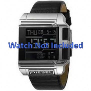 Pasek do zegarka Diesel DZ7113 Skórzany Czarny 26mm