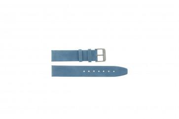 Prawdziwy Skóra Pasek Do Zegarka Saddle Niebieski 24mm G-33