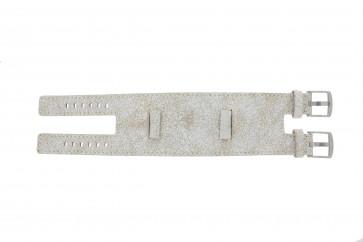 Pasek do zegarka Uniwersalny UI30 Skórzany Biały 24mm